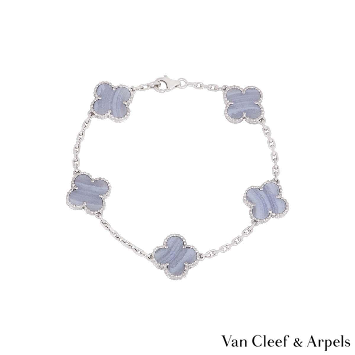 Van Cleef & Arpels White Gold Vintage Alhambra Bracelet VCARD34700